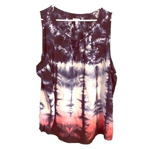 Sonoma Tie Dye Sleeveless Top 2X plus size Boho